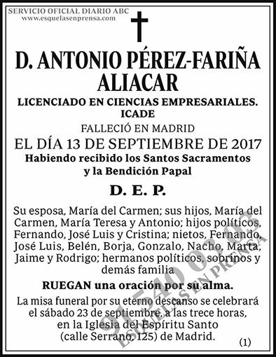 Antonio Pérez-Fariña Aliacar